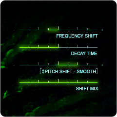 WORMHOLE PITCH and FREQUENCY SHIFT Controls