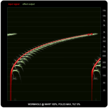 WORMHOLE compared to ring-modulators and frequency shifters, illustration eleven: maximum WARP with maximum Poles.