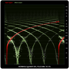 WORMHOLE compared to ring-modulators and frequency shifters, illustration seven: WORMHOLE, 50% warp.