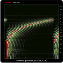 WORMHOLE compared to ring-modulators and frequency shifters, illustration nine: WORMHOLE, 100% warp.
