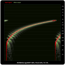 WORMHOLE compared to ring-modulators and frequency shifters, illustration ten: maximum WARP with 50% Poles.