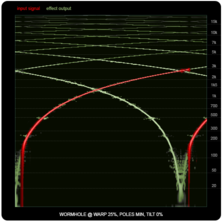 WORMHOLE compared to ring-modulators and frequency shifters, illustration six: WORMHOLE, 25% warp.